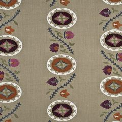 Mulberry Home Tangier Linen / Multi FD682-K132 Drapery Fabric