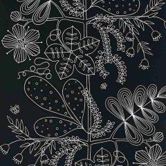 F-Schumacher Blommen-Ebony 5007494 Luxury Decor Wallpaper