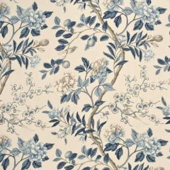GP and J Baker Emperors Garden Blue / Cream BP10310-3 Drapery Fabric