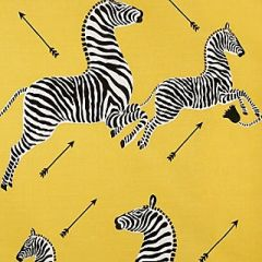 Scalamandre Zebras - Outdoor Yellow 2 Zebras Collection Upholstery Fabric