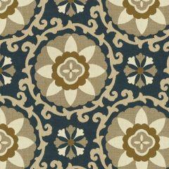 Kravet Sunbrella Exotic Suzani Sapphire 31969-516 Oceania Indoor Outdoor Collection Upholstery Fabric