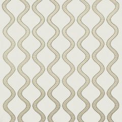 Thibaut Juniper Ogee Embroidery Neutral W764107 Caravan Collection Multipurpose Fabric