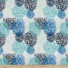 Premier Prints Blooms Blue Vista Indoor-Outdoor Upholstery Fabric