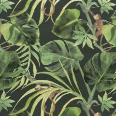 Clarke and Clarke Monkey Business Charcoal F0998-01 Multipurpose Fabric
