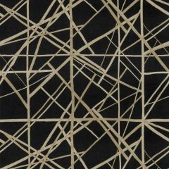 Groundworks Channels Velvet Onyx / Almond GWF-3731-811 by Kelly Wearstler Multipurpose Fabric
