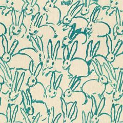 Groundworks Hutch Print Turquoise GWF-3523-13 by Hunt Slonem Multipurpose Fabric