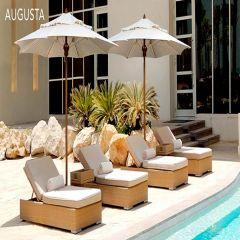 Fiberbuilt 10ft Square Augusta Umbrella With Sunbrella Fabric