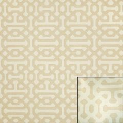 Sunbrella Fretwork Flax 45991-0001 Elements Collection - Reversible Upholstery Fabric (Light Side)