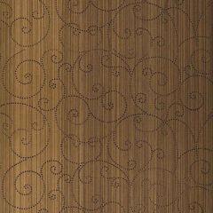 F-Schumacher Beaded Scroll-Burnished Bronze 5005723 Luxury Decor Wallpaper