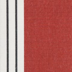Dickson Pompadour Red / White / Black 7124 North American Collection Awning / Shade Fabric