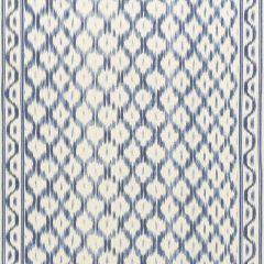 F Schumacher Santa Monica Ikat Indigo 176502 by Mark D Sikes Indoor Upholstery Fabric