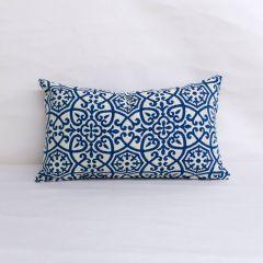 Indoor/Outdoor Outdura Avalon Sapphire - 20x12 Throw Pillow (quick ship)