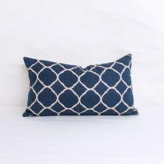 Indoor/Outdoor Sunbrella Accord Indigo (dark side)  - 20x12 Throw Pillow (quick ship)