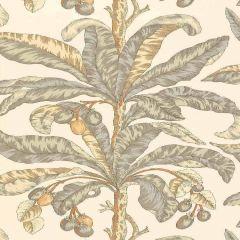 F-Schumacher Blair House Palm-Vanilla & Aqua 5004060 Luxury Decor Wallpaper