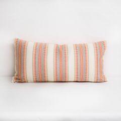 Indoor/Outdoor Sunbrella Senia Ember Glow - 24x12 Vertical Stripes Throw Pillow (quick ship)