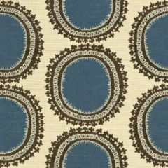 Kravet Design Blue/Brown 31421-516 Guaranteed in Stock Indoor Upholstery Fabric