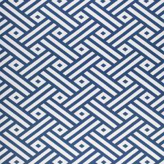 Sunbrella Thibaut Parterre Marine Blue W80327 Calypso Collection Upholstery Fabric