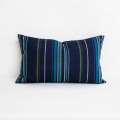 Indoor/Outdoor Sunbrella Viento Nautical - 20x12 Vertical Stripes Throw Pillow (quick ship)