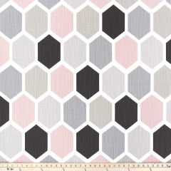 Premier Prints Hexagon Blush / Slub Canvas The Blush Movement Collection Multipurpose Fabric
