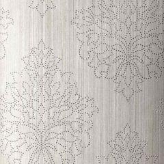 F-Schumacher Beaded Damask-Zinc 5005662 Luxury Decor Wallpaper