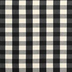 F Schumacher Camden Cotton Check Ebony 63042 Indoor Upholstery Fabric