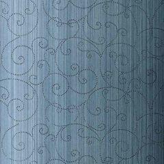 F-Schumacher Beaded Scroll-Peacock 5005722 Luxury Decor Wallpaper