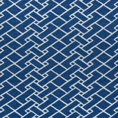 Sunbrella Thibaut Parquet Marine Blue W80548 Oasis Collection Upholstery Fabric