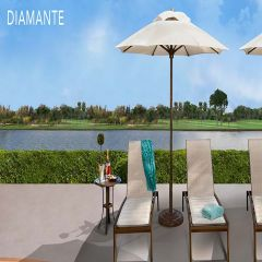 Fiberbuilt 9ft Octagon Diamante Umbrella With Sunbrella Fabric