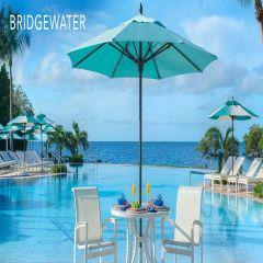 Fiberbuilt 6ft Square Bridgewater Umbrella With Sunbrella Fabric