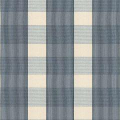 F Schumacher Avon Gingham Plaid Indigo/Sky 63024 Indoor Upholstery Fabric