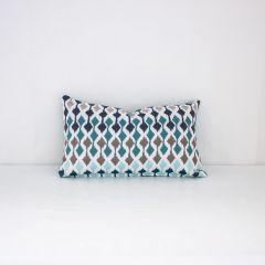 Indoor/Outdoor Sunbrella Divide Reef - 20x12 Throw Pillow (quick ship)