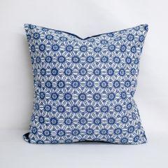Indoor Duralee Navy 15687 - 22x22 Throw Pillow (quick ship)