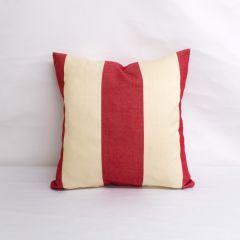 Indoor Patio Lane Cabana Red Stripe - 18x18 Throw Pillow (quick ship)