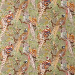 Mulberry Home Game Birds Linen Stone Multi FD269-K102 Bohemian Romance Collection Multipurpose Fabric