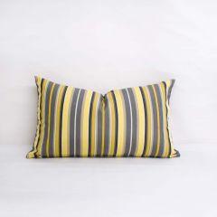 Indoor/Outdoor Sunbrella Foster Metallic - 20x12 Vertical Stripes Throw Pillow (quick ship)
