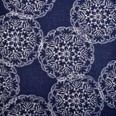 Duralee Danda-Indigo by John Robshaw 21034-193 Decor Fabric
