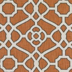 Duralee Pumpkin 42472-34 Astoria Trellis Print Collection Upholstery Fabric