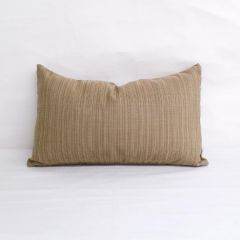 Indoor/Outdoor Sunbrella Dupione Latte - 20x12 Vertical Stripes Throw Pillow (quick ship)