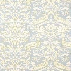 F-Schumacher Aldwyn Damask-Robins Egg 5003610 Luxury Decor Wallpaper