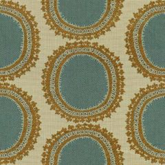 Kravet Design Teal/Gold 31421-615 Guaranteed in Stock Indoor Upholstery Fabric