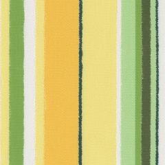 Tempotest Molto Bene 862/85 Lemon-Lime Jagged Stripe Indoor-Outdoor Upholstery Fabric