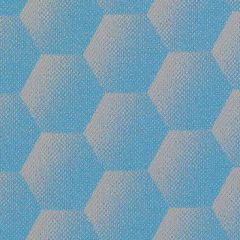 Sunbrella Hexagon Azure HEX J204 140 European Collection Upholstery Fabric