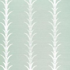 F-Schumacher Acanthus Stripe-Seaglass & Chalk 5006053 Luxury Decor Wallpaper