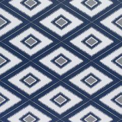Sunbrella Thibaut Delray Diamond Indigo W80582 Oasis Collection Upholstery Fabric