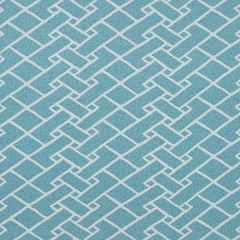 Sunbrella Thibaut Parquet Spa Blue W80549 Oasis Collection Upholstery Fabric