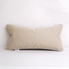 Indoor/Outdoor Sunbrella Houndstooth Wren - 24x12 Throw Pillow with Welt (quick ship)