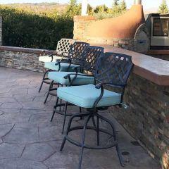 Custom Outdoor Barstool Cushions