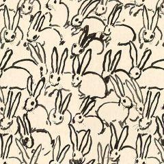 Groundworks Hutch Print Black GWF-3523-8 by Hunt Slonem Multipurpose Fabric