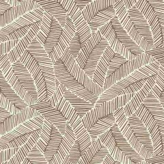 F-Schumacher Abstract Leaf-Mocha 5007532 Luxury Decor Wallpaper