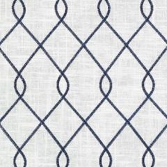 Duralee Rico Navy 73023-206 Barton Embroideries Collection Multipurpose Fabric